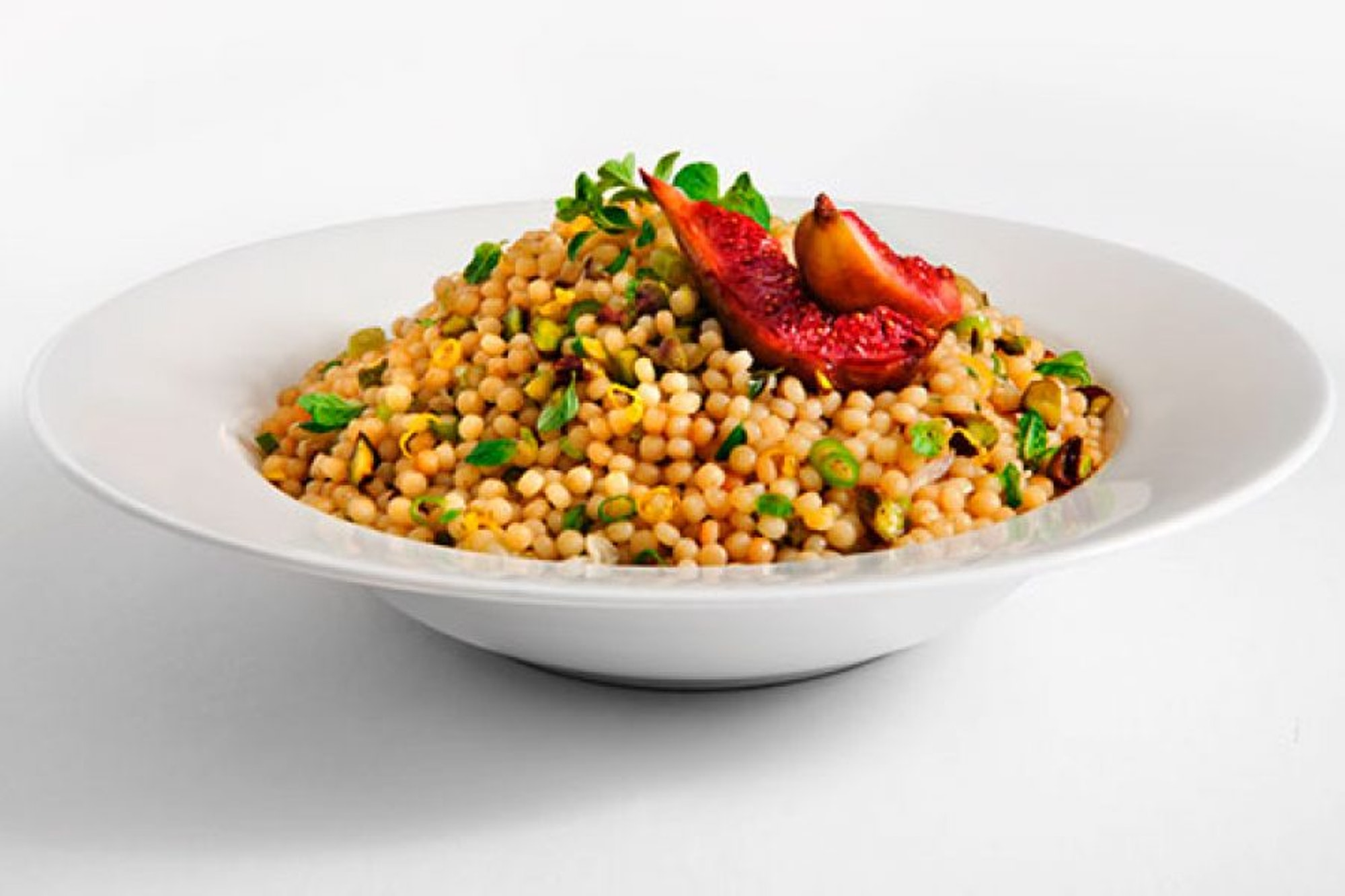 Fresh Herb Pearl Couscous With Roasted Figs San Remo